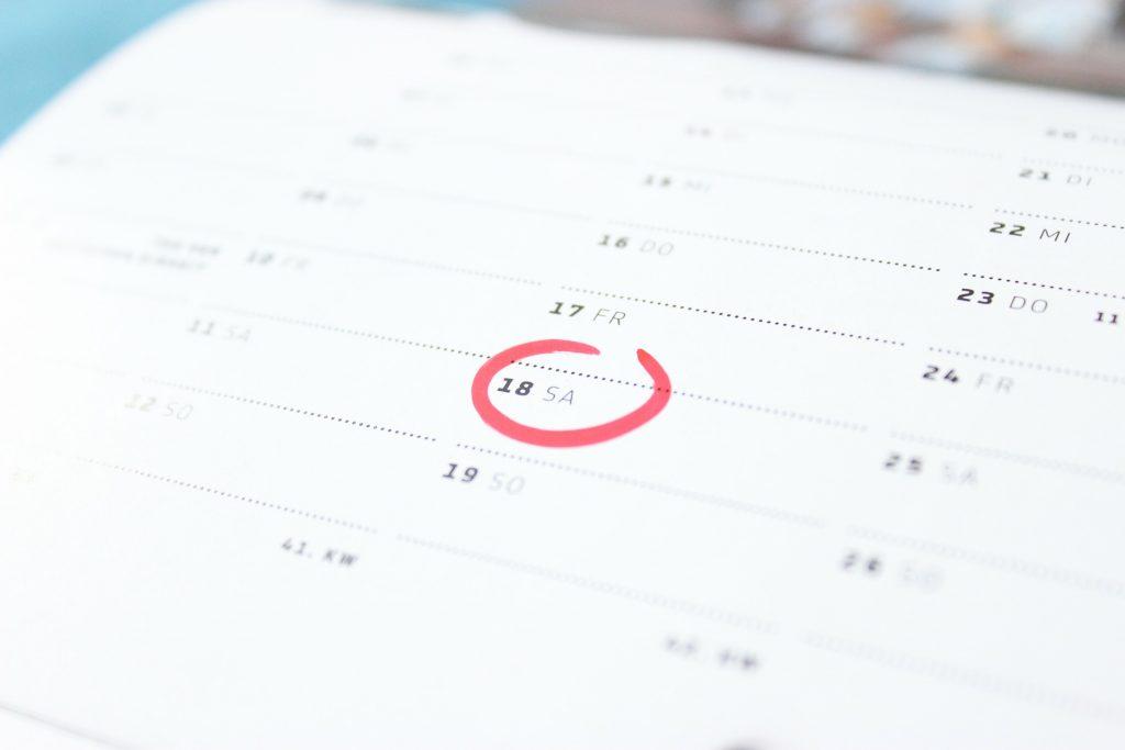 Kalender der Personalakte