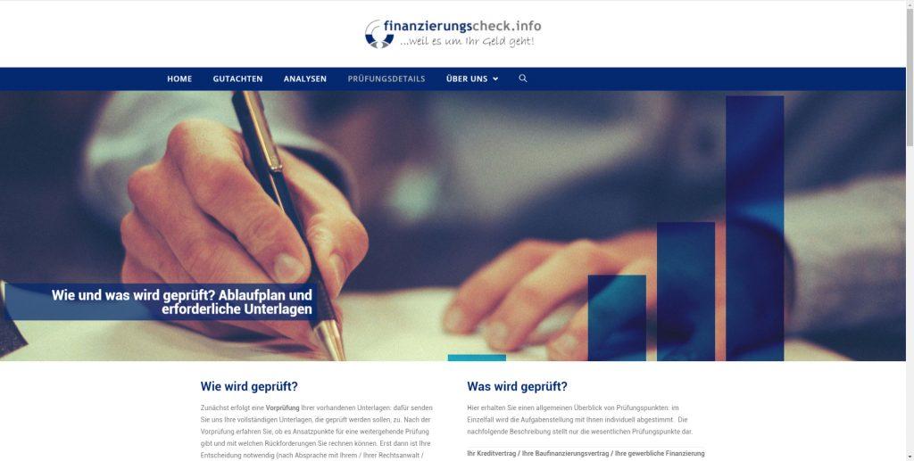 Webdesign für finanzirungscheck