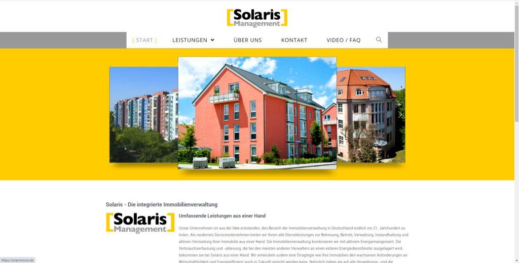 Webdesign für SolarisImmo.de